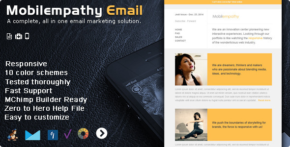 Responsive Email Template Builder - Pure Text Mail